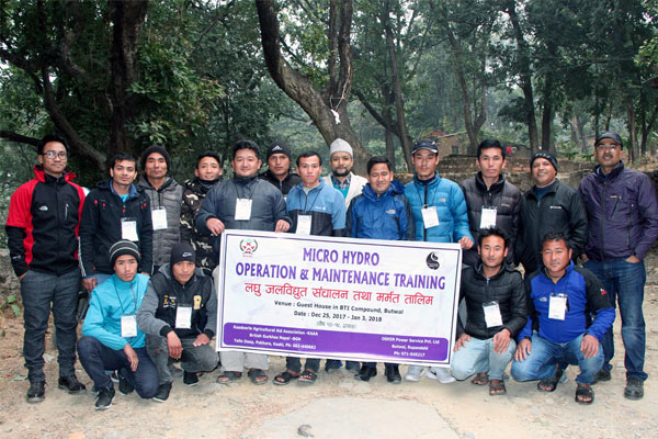 Completion of Micro Hydropower Operation & Maintenance Training